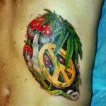 Татуировки с коноплей
