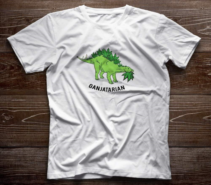 ganja, vegetarian, weed, grass, hemp, 420, dinosaurus, design prints for t-shirts, шишки, травка, ганж, марихуана, каннабис, конопля, принт, травоядный динозавр, динозавр