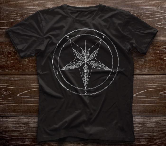 design prints for t-shirts, шишки, травка, ганж, марихуана, каннабис, конопля, сатана, пентаграмма, звезда, принт