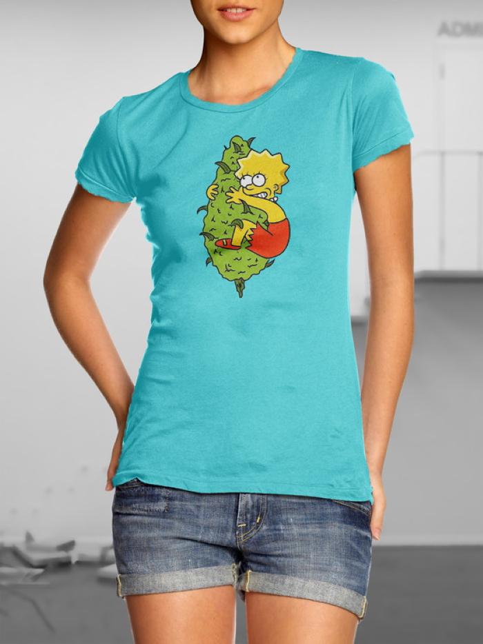 design prints for t-shirts, шишки, травка, ганж, марихуана, каннабис, конопля, шишло, лиза симпсон, симпсоны,